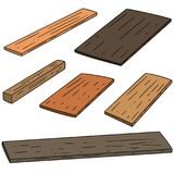 Vector set of plywood. Hand drawn cartoon, doodle illustration Stock Images