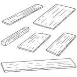 Vector set of plywood. Hand drawn cartoon, doodle illustration Royalty Free Stock Photo