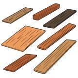 Vector set of plywood. Hand drawn cartoon, doodle illustration Stock Photo