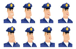 Vector set of policeman characters. Stock Photography