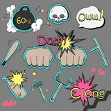 Vector set of pop art style Royalty Free Stock Images