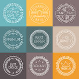 Vector set of premium labels Royalty Free Stock Photos