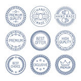 Vector set of premium labels Stock Photos