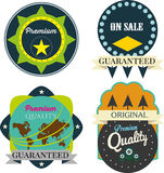 Vector set premium quality and guarantee labels retro Royalty Free Stock Photography