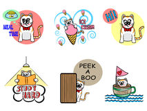 Vector set of pretty cat Royalty Free Stock Images