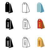 Vector Set of Price Tag Icons Stock Photo
