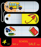 Vector set of price tags. School elements. Set #7 Stock Photo