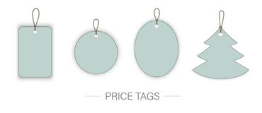 Vector set of price tags isolated on white background. vector illustration