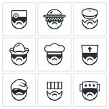 Vector Set of Profession People Icons.  Stock Photos