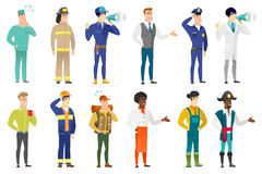 Vector set of professions characters. Royalty Free Stock Photos