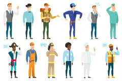 Vector set of professions characters. Royalty Free Stock Photography