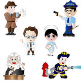 Vector Set of Professions Stock Images