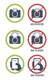Vector set of prohibition icons Stock Photos