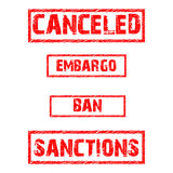 Vector set of prohibitions Royalty Free Stock Images
