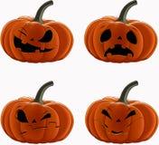 Vector set: Pumpkins for Halloween Stock Images