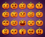 Vector Set pumpkins for Halloween. To design posters vector illustration