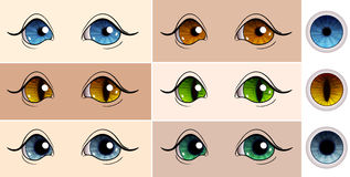 Vector set of pupils Royalty Free Stock Photo