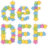 Puzzle Jigsaw Alphabet Letters Royalty Free Stock Photo