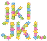 Puzzle Jigsaw Alphabet Letters Royalty Free Stock Images