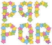 Puzzle Jigsaw Alphabet Letters Stock Photo
