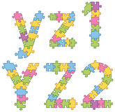 Puzzle Jigsaw Alphabet Letters Royalty Free Stock Photos