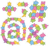 Puzzle Jigsaw Alphabet Letters Royalty Free Stock Image