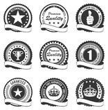 Vector Set of Quality Badges Royalty Free Stock Photography