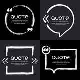 Vector set of quote forms template. Stock Photo