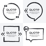 Vector set of quote forms template. Royalty Free Stock Images