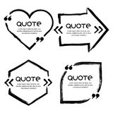 Vector set of quote forms template. Royalty Free Stock Photo