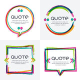 Vector set of quote forms template. Royalty Free Stock Photos