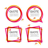 Vector set quote frame, colorful quote frames for modern design Royalty Free Stock Images