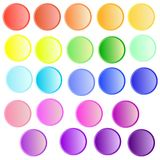 Vector set with rainbow colors buttons. stock illustration