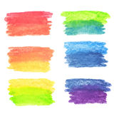 Vector set of rainbow watercolor banners Royalty Free Stock Photo