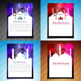 Vector set of ramadan kareem brochure design Stock Photo
