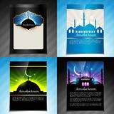 Vector set of ramadan kareem festival brochure design Royalty Free Stock Image