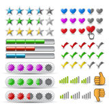 Vector set rating icon. Large collection Stock Photos