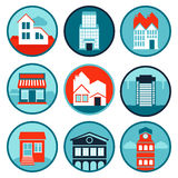 Vector set with real estate logos and emblems Stock Photography