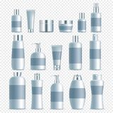 Vector realistic cosmetic packaging set Stock Images