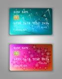 Vector set Realistic credit bank card mockup. Royalty Free Stock Photo