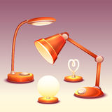Vector set of realistic office reading-lamps Royalty Free Stock Photos
