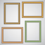Vector set of realistic plastic portrait frames on Stock Images