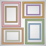Vector set of realistic plastic portrait frames on Stock Photo
