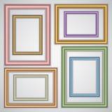 Vector set of realistic plastic portrait frames on royalty free illustration