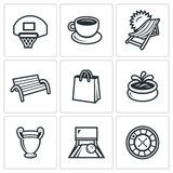 Vector Set of Recreation and Entertainment Icons.  Stock Image
