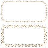 Vector set of rectangular beautiful frames Stock Images
