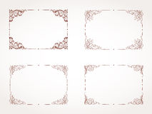 Vector set of rectangular ornamental frame. Stock Photo