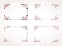 Vector set of rectangular ornamental frame. Vector set of hand drawn rectangular ornamental frame Stock Photo