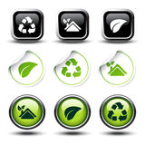 vector set of recycle buttons and stickers Stock Image