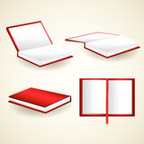 Vector set of red books Stock Image